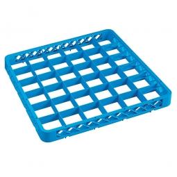 Aufsatzrahmen für Spülkörbe blau, LxB 500x500 mm, Nutzhöhe 40 mm, lichtes Fachmaß 73x73 mm
