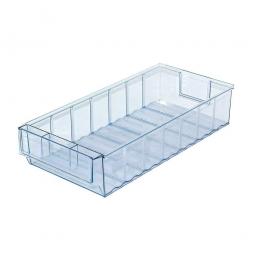 Klarsicht-Regalkasten, LxBxH 400x183x81 mm, Polypropylen-Kunststoff (PP), Gewicht 393 g