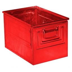 Stapelkasten ST2 aus Stahlblech, 39 Liter, LxBxH 450 x 300 x 300 mm, rot
