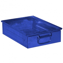 Stapelkasten ST4 aus Stahlblech, 15 Liter, LxBxH 450 x 300 x 120 mm, blau