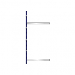 Kragarm-Anbauregal, leichte Ausführung, doppelseitige Nutzung, BxTxH 1060 x 2x500 x 2480 mm, Gesamttragkraft 1750 kg