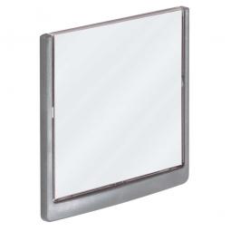 Türschild aus ABS-Kunststoff mit aufklappbarem Sichtfenster, BxH 149 x 148,5 mm, graphit