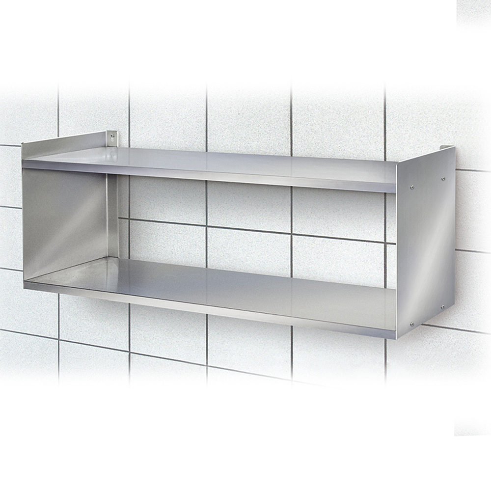 edelstahl wandregal mit 2 b den bxtxh 1000 x 250 x 360 mm tragkraft 15 kg boden edelstahl. Black Bedroom Furniture Sets. Home Design Ideas