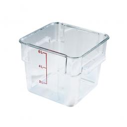 Transparenter Vorratsbehälter, glasklares Polycarbonat, lebensmittelecht, 6 Liter