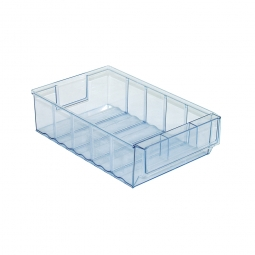 Klarsicht-Regalkasten, LxBxH 300x183x81 mm, Polypropylen-Kunststoff (PP), Gewicht 320 g