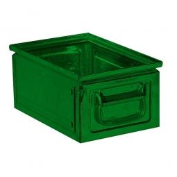 Stapelkasten ST6 aus Stahlblech, 9 Liter, LxBxH 300 x 200 x 150 mm, grün