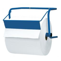 Papierrollen-Wandhalterung, BxTxH 400x270x270 mm, aus Stahlrohr, blau