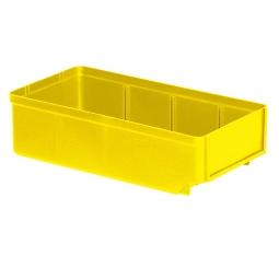 Regalkasten, gelb, LxBxH 300x152x83 mm, Polystyrol-Kunststoff (PS), Gewicht 195 g