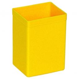 Einsatzkasten für Stapelbehälter, LxBxH 86x73x122 mm, Polystyrol (PS) gelb