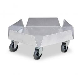 Alu-Tonnenroller für runde Tonnen bis 100 Liter, Tragkraft 250 kg