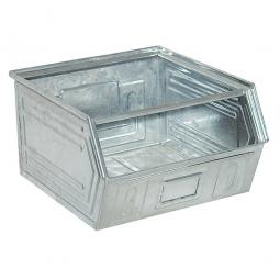 Sichtbox SB1 aus Stahlblech, 60 Liter, LxBxH 520/450 x 450 x 300 mm, feuerverzinkt