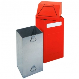 Wertstoffsammler, stationär, Inhalt 65 Liter, BxTxH 405x380x970 mm, rot