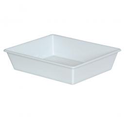 Kunststoffwanne, 12,4 Liter, LxBxH 625/525 x 525/430 x 140 mm, weiß