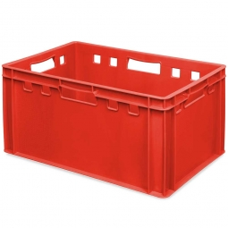 E3-Fleischkasten, LxBxH 600 x 400 x 300 mm, PE-HD, 60 Liter, rot
