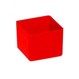 Einsatzkasten für Schubladen, rot, LxBxH 49x49x40 mm, Polystyrol-Kunststoff (PS)