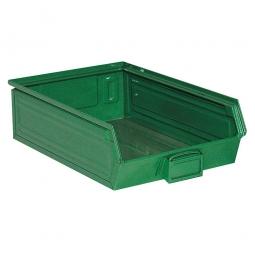 Sichtbox SB4 aus Stahlblech, 18 Liter, LxBxH 500/450 x 300 x 145 mm, grün