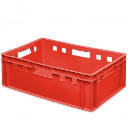 E2-Fleischkasten, LxBxH 600 x 400 x 200 mm, PE-HD, 40 Liter, rot