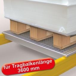 Gitterrost-Böden, feuerverzinkt, LxTxH 3520x1100x20 mm, 4-geteilt, Maschenweite 33x66 mm