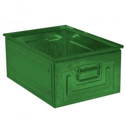Stapelkasten ST0 aus Stahlblech, 80 Liter, LxBxH 630 x 450 x 300 mm, grün