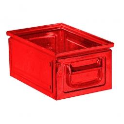 Stapekasten aus Stahlblech, 9 Liter, LxBxH 300 x 200 x 150 mm, rot