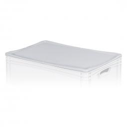 Auflagedeckel für Euro-Stapelbehälter -Profi-, LxB 600x400 mm, Farbe grau, Gewicht 0,63 kg