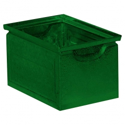Stapelkasten ST7 aus Stahlblech, 3,6 Liter, LxBxH 200 x 140 x 130 mm, grün