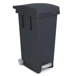 Tret-Abfallbehälter mit Rollen, anthrazit, BxTxH 370x510x790 mm, Inhalt 80 Liter