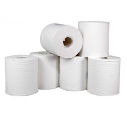 Rollenhandtuch, weiß, 1-lagig (1 VE = 6 Rollen), LxB 300 m x 200 mm