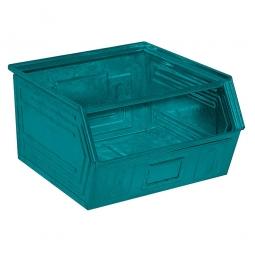 Sichtbox SB1 aus Stahlblech, 60 Liter, LxBxH 520/450 x 450 x 300 mm, blaugrün