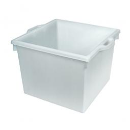 Kunststoffwanne mit umlaufendem U-Rand, 60 Liter, LxBxH 480 x 480 x 370 mm, weiß