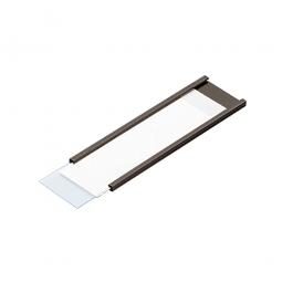 Magnetisches C-Profil, VE = 50 Stück, braun, Zuschnitt BxH 100 x 40 mm, für die individuelle Beschriftung