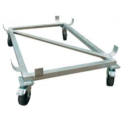 Rollwagen für Rechteckbehälter 100 Liter, Feuerverzinkt, Gewicht 9 kg