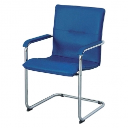 Schwingsessel mit Armlehnen, BxTxH 550 x 530 x 870 mm, Farbe blau