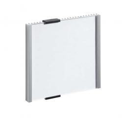 Türschild, BxH 153x155 mm, metallic-silber, Einsteckschild BxH 149x148,5 mm