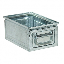 Stapelkasten ST6 aus Stahlblech, 9 Liter, LxBxH 300 x 200 x 150 mm, feuerverzinkt