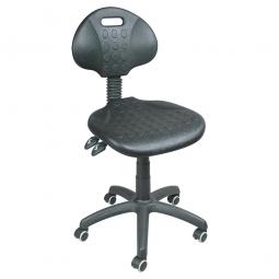 Arbeitsdrehstuhl mit Rollen, Sitz und Rückenlehne aus Polyurethanschaum