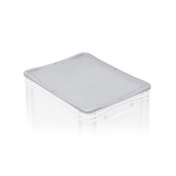 Auflagedeckel für Euro-Stapelbehälter -Profi-, LxB 400x300 mm, Farbe grau, Gewicht 0,33 kg