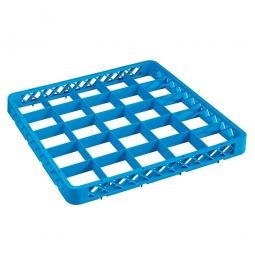 Aufsatzrahmen für Spülkörbe blau, LxB 500x500 mm, Nutzhöhe 40 mm, lichtes Fachmaß 88x88 mm