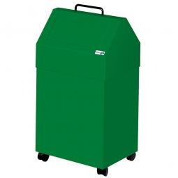Wertstoffsammler, Inhalt 45 Liter, fahrbar, BxTxH 330x310x710 mm, grün