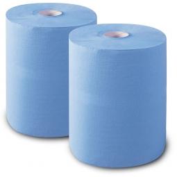 Putzpapier, Papier aus Recyclingrohstoff, blau (VE = 2 Rollen)