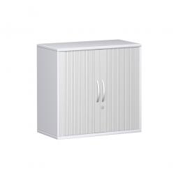 Anstell-Querrollladenschrank PRO 2 Ordnerhöhen, weiß, BxHxT 800x720x425 mm