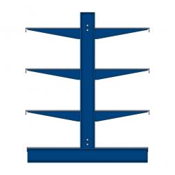 Kragarm-Anbauregal mit Fachböden, doppelseitige Nutzung, BxTxH 1060 x 900 x 1980 mm, Gesamttragkraft 2240 kg