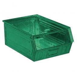 Sichtbox SB3 aus Stahlblech, 27 Liter, LxBxH 500/450 x 300 x 200 mm, grün