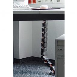 Kabelschlange, flexibel, Material Kunststoff, schwarz