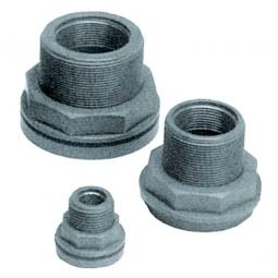 """Anschlussverschraubung 3/4"""" IG, Material PVC grau, Aussengewinde 1"""", Innengewinde 3/4"""""""