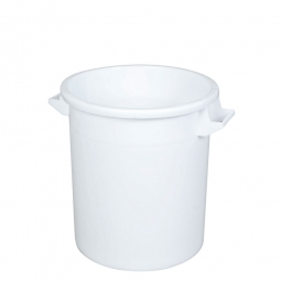 Rundtonne, 35 Liter, Ø oben/unten 390/315 mm, Höhe 415 mm, weiß
