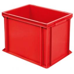 Euro-Geschirrkasten, LxBxH 400x300x320 mm, mit 2 Griffleisten, rot