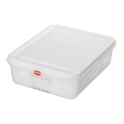 GN-Vorratsdose/Frischhaltebox GN1/2 mit Deckel, LxBxH 325 x 265 x 100 mm, 6,5 Liter