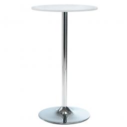 Design-Stehtisch, weiß, Tischhöhe 1030 mm, Platten-Ø 600 mm