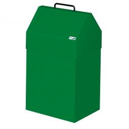 Wertstoffsammler, stationär, Inhalt 45 Liter, BxTxH 330x310x640 mm, grün